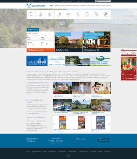 screenshot Startseite mueritz.de