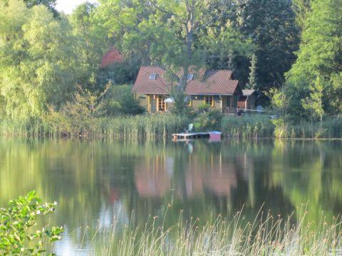 Weidenhaus - Blick von der anderen Seite des Sees