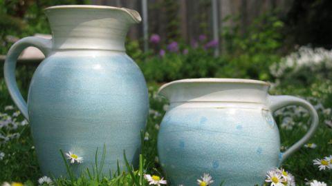 Tonkrüge - Keramikwerkstatt himmelblau