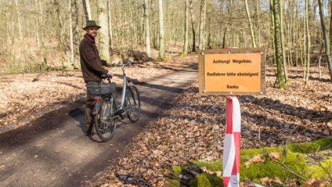 Nationalparkamt Müritz saniert Radwanderweg zum Weltnaturerbe