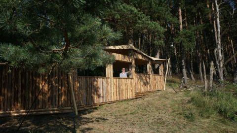 Neuer Sichtschirm im Müritz-Nationalpark