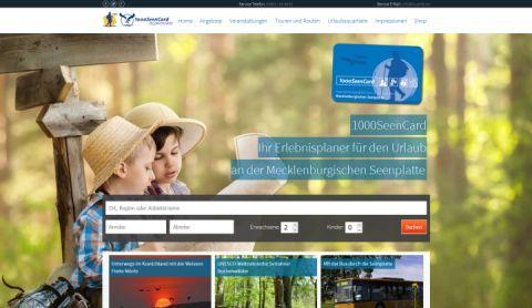 screenshot Startseite 1000SeenCard.de