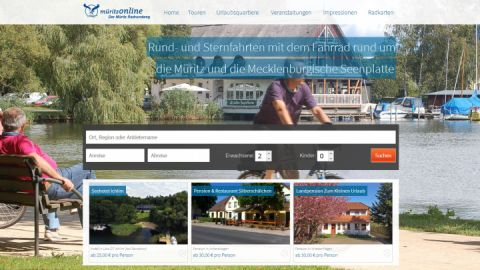 screenshot Startseite mueritz-radrundweg.de